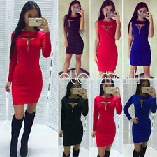 Women's Bandage Bodycon Clubwear Evening Cocktail Party Short Mini Dress Zipper