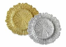 ChargeIt 13 1/2-Inch Glass Charger Plates Round 4 Sets Dining Decor Table Room