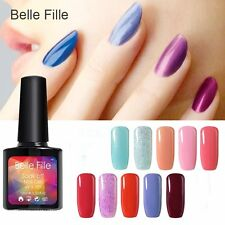 BELLE FILLE Nail Art Gel Polish Soak-off UV/LED Manicure & Pedicure Colorful