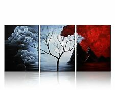 Modern Abstract Cloud Tree Landscape Prints Painting Wall Art Home Decor Canvas