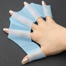 Swimming Finger Webbed Gloves Frog Hand Gear Fins Palm Flippers Paddle Engaging