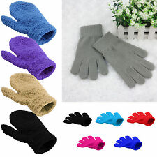 Childrens magic gloves girls boys kids stretchy knitted winter warm
