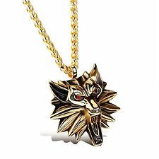 Men's Titanium Jewelry Stainless Steel Gold/Silver Lion Head Pendant Necklace