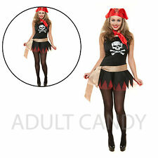 New Ladies Women's Sexy Pirate Costume Role Play Outfit Adult  Fancy Dress S, L