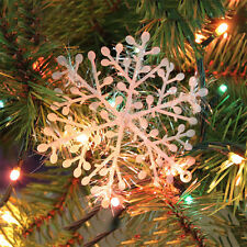 New Christmas Tree Holiday Party White Snowflake Charms Festival Ornaments Decor