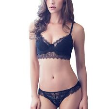Sexy Womens Lady Lace Bra Sets Push Up Deep V Underwear Lingerie Panties Briefs