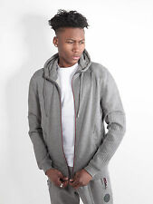 883 Police Mens Oakley Marl Grey Regular Fit Hooded Sweat Hoody Hoodie Top