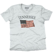Tennessee Patriotic Home State American USA T Shirt Flag Gift V-Neck T-Shirt