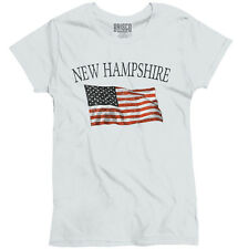 New Hampshire Patriotic Home State American USA T Shirt Cool Ladies T-Shirt