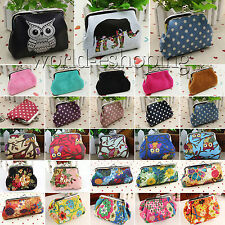 Vintage Womens Girls Floral Clutch Mini Wallet Key Coin Purse Pockets Bag Pouch