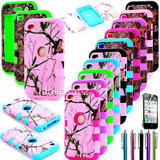 For iPod Touch touch 4 4th Gen HARD & SOFT RUBBER Skin CASE HYBRID COVER SHELL