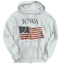 Iowa Patriotic Home State American USA T Shirt Flag Gift Pride Zipper Hoodie
