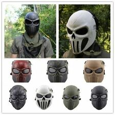 Tactical Airsoft Full Face Skull Mask Military Hunting CACIQUE Gear Halloween