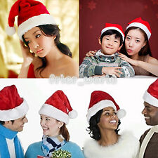 Unisex Adult Kid Santa Claus Christmas Hat Party Holiday Cosplay Costume Cap Lot