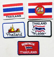 Embroidered Sew / Iron On Patch Badge Applique 4 Designs Thailand  + EXTRA