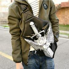 Leatherette Motorcycle Loong Bone Blade Shoulder Bag Chest Pack Outdoor Hiking