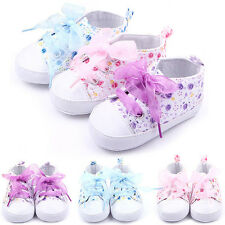 Infant Toddler Baby Girls Kids Soft Sole Crib Shoes Sneaker Newborn 0-18Months