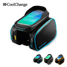 Coolchange Cycling Bike Frame Bag Pannier Front Top Tube Bag Double Pouch Holder