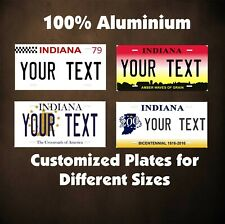 Indiana Tag Auto Bike Bicycle Motorcycle Moped Personalized License Plates