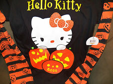 NEW w/tag SANRIO Hello Kitty With Pumpkins Emo Goth Punk Halloween T Shirt Bow