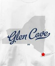 Glen Cove, New York NY MAP Souvenir T Shirt All Sizes & Colors