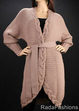 MARCIANO GUESS Wool Chunky Cable Wrap Sweater Coat NWT