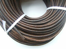 High Quality Dark Antique Brown 5mm Round Genuine Soft Leather Findings Cord