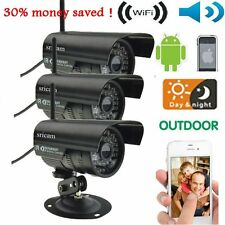 3pcs HD Home Security IP Camera Wifi Wired System Internet Outdoor Weatherproof
