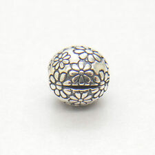 Authentic Genuine S925 Sterling Silver DAISIES CLIP CHARM Bead