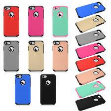 Rubberized Dual Layer Armor Hybrid Protector Cover Phone Case For Apple iPhone 7
