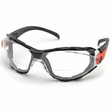 Elvex Go-Specs Bifocal Safety Glasses | Black Frame, Foam Seal | Clear AF Lens
