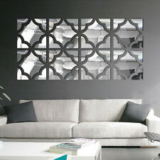 3D Modern Mirror Symmetry Wall Stickers Acrylic Mural Art Home Decor Removable