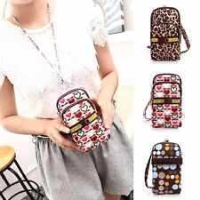 Women Wallet Purse Nylon Coin Cell Phone Case Mobile Bag Pouch Mini Shoulder Bag