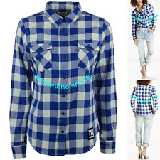 NWT LEVIS WOMENS NFL PLAID WESTERN LONG SLEEVE SHIRT GIANTS SIZE LARGE