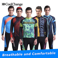 Coolchange Cycling Bike Long Sleeve Clothing MTB Bicycle Sports Wear Jersey Set