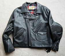 New Vintage Schott Perfecto Leather Police Motorcycle Biker Riding Jacket #624