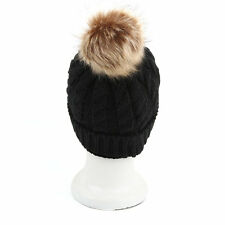 2Pcs Mom And Baby Hats Fashion Winter Crochet Knitted Keep Warm Beanie Cap BE