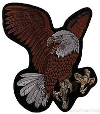 """Flying Screaming Eagle Patch Embroidered Motorcycle Rider Biker Jacket Large 15"""""""