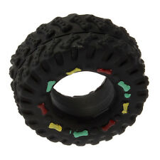 Pet Dog Cat Animal Chews Squeaky Sound Rubber Tire Shape Dog Toy BA