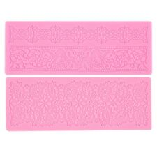 Lace Silicone Fondant Embossing Mold Cake Gum Paste Decorating DIY Mould BN