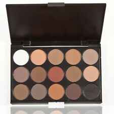 Professional 15 Colors Matte Shimmer Eyeshadow Palette Makeup + Brush BE