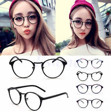 Vintage Classic Round Clear Lens Unisex Frame Glasses Nerd Spectacles Eyeglass