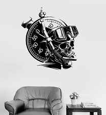 Vinyl Wall Decal Diver Skull Extreme Sports Marine Scuba Stickers (ig3948)