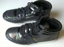NEW Girls Youth CANDIES Sparkle Casual Lace Zip Hi Top Sneakers Shoes