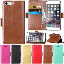 Flip Leather Wallet Cards Magnetic Stand Case Cover For iPhone 5 5s 6 6s Plus SE