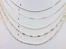 "925 Solid Sterling Silver Chains - 18"" Length"