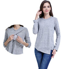 Long Sleeve Fall&Winte Maternity Clothes Breastfeeding Nursing Top Women T-shirt
