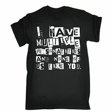 MULTIPLE PERSONALITIES NONE LIKE YOU T-SHIRT tee rude emo funny birthday gift