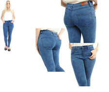 Ladies Super Soft Skinny Stretch Denim Jeans Acid Wash UK Size 6-18