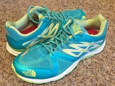 The North Face Women's Hyper-Track Guide Running Shoes Blue Green NEW